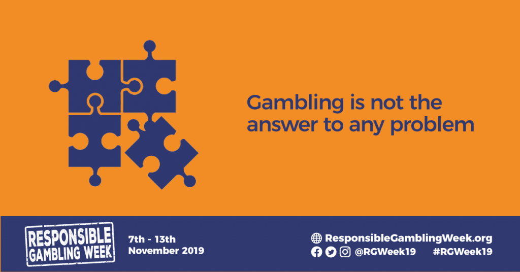 Image for responsible gambling week - gambling is not the answer to any problem