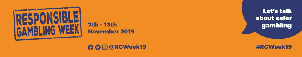 Banner image for Responsible Gambling week 2019